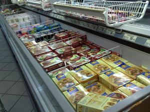 оптовые поставки замороженных полуфабрикатов - холодильники с товаром